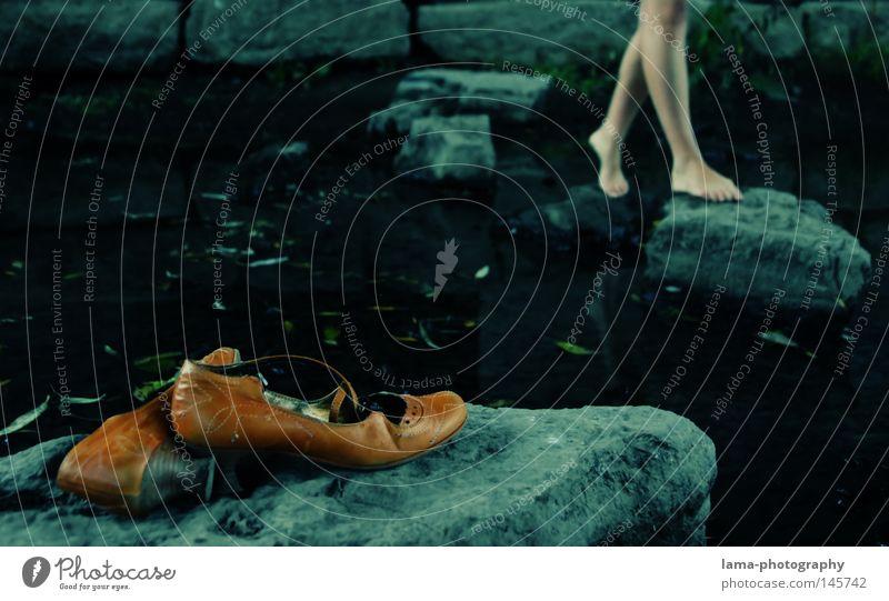 Boulevard of broken dreams Footwear Barefoot Legs Going Walking Leave behind Forget Stony Ocean River Brook Ford Water Loneliness Doomed Lose Future Hope Autumn