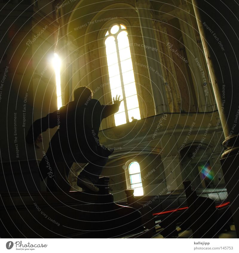 gothic Religion and faith Church House of worship Arm Fingers Human being Delivery person Clergyman Sun Stars Light Back-light Silhouette Classicism Catch Grasp
