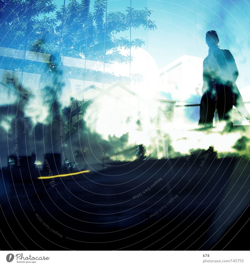 Human being Environment Double exposure Light Illusion