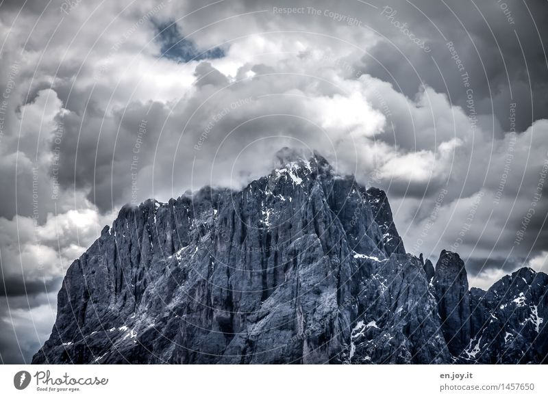 Sky Nature Vacation & Travel Landscape Clouds Dark Mountain Gray Rock Weather Hiking Climate Threat Transience Adventure Peak