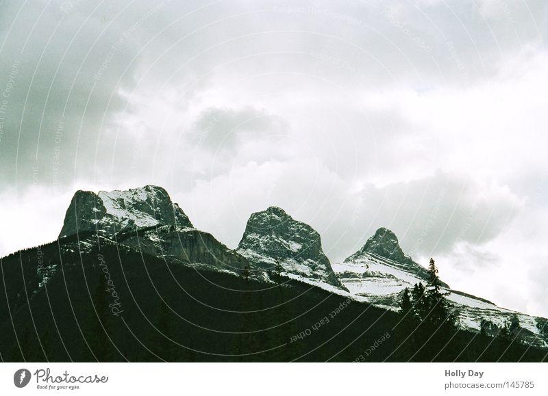 Sky White Clouds Black Dark Cold Snow Mountain Bright Rain Tall Threat Peak Storm Canada Converse