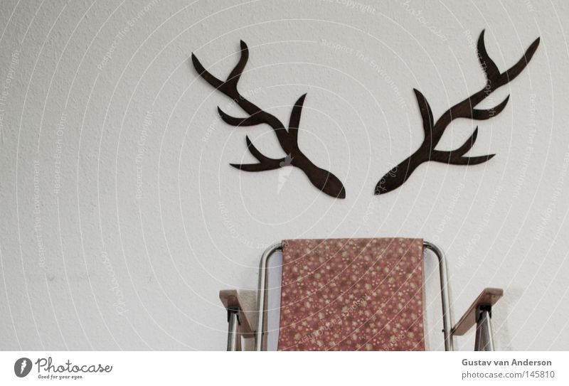 deer damage Deer Antlers Places White Wallpaper Pattern Hunter Hunting Wood Multicoloured Camping Animal Green Tree Decoration stag's antlers Seating Chair