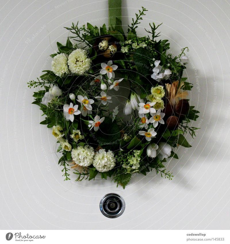 welcome wreath Wreath Florist Hollow Peephole Decoration Cozy Hallway Household door domestic spyhole womens institutes flower connoisseur annular