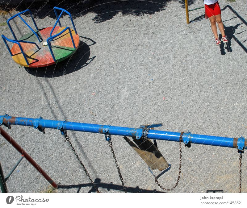 Colour Playing Gray Infancy Broken Transience Climbing Derelict Toys Shabby Rotate Gravel Swing Balance Playground Greece