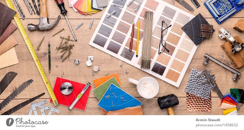 Designer Still Life Leisure and hobbies Living or residing Redecorate Interior design Hammer Break Workshop Planning Metre-stick Tool Pattern Spirit level Cup
