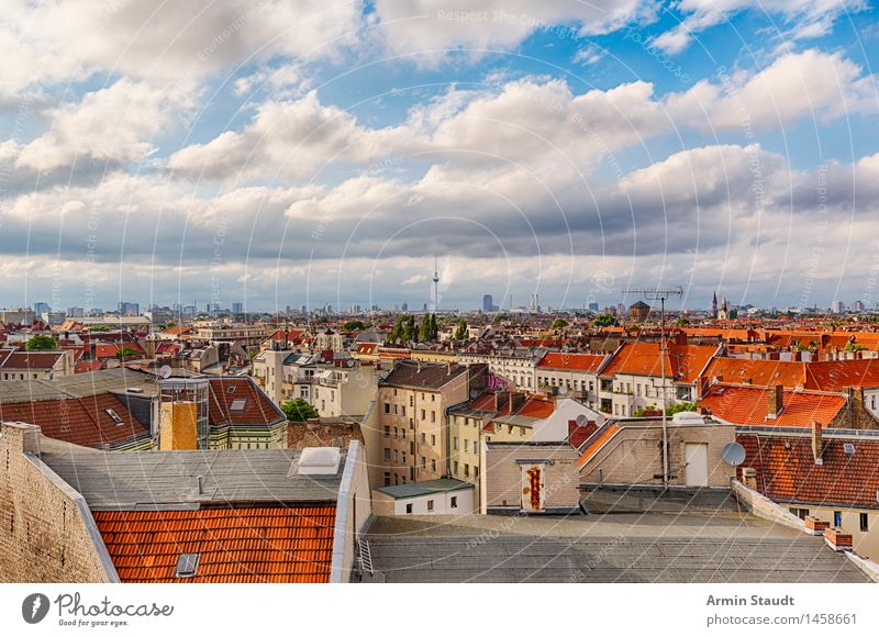 Panorama Berlin Lifestyle Environment Nature Sky Clouds Spring Summer Beautiful weather Capital city House (Residential Structure) Tourist Attraction Authentic