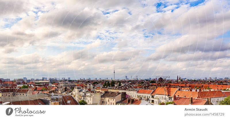 Berlin - Panorama Vacation & Travel Tourism Sightseeing Landscape Sky Clouds Spring Summer Climate Capital city Skyline House (Residential Structure)
