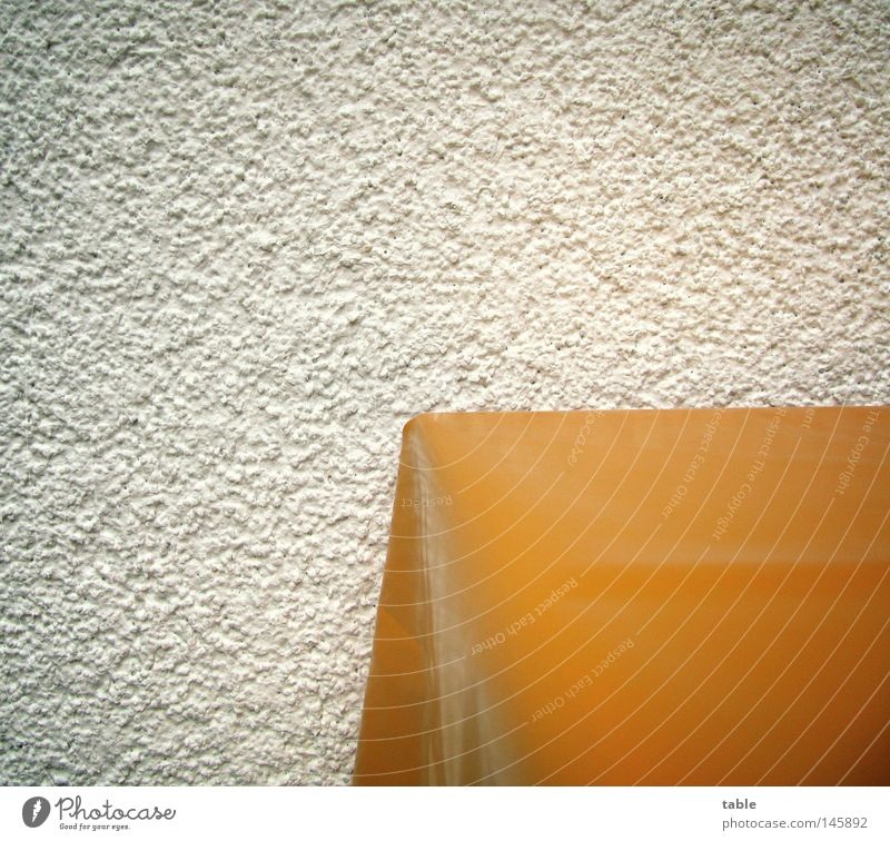 table Table Balcony Wall (building) Facade White Clean Joy Furniture Macro (Extreme close-up) Close-up Orange New Tablecloth