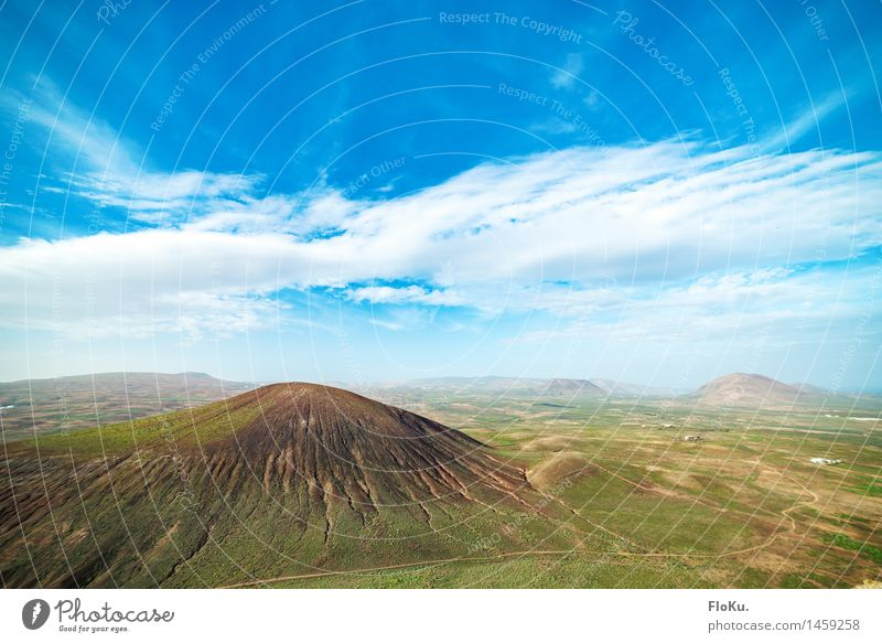 Lanzarote in winter Vacation & Travel Trip Adventure Far-off places Environment Nature Landscape Elements Earth Sky Clouds Horizon Beautiful weather Hill