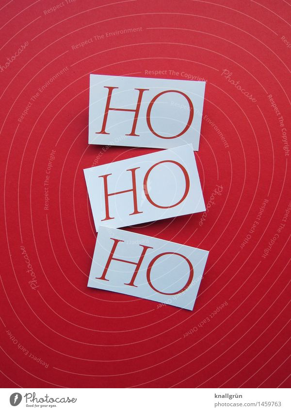 HOHOHO Characters Signs and labeling Communicate Sharp-edged Cliche Red White Emotions Moody Joy Happiness Joie de vivre (Vitality) Anticipation Enthusiasm