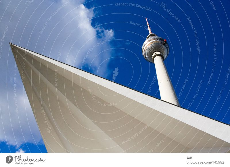 The tower Alexanderplatz Tower Berlin TV Tower Downtown Berlin Beautiful weather Historic Craft (trade) Media alex