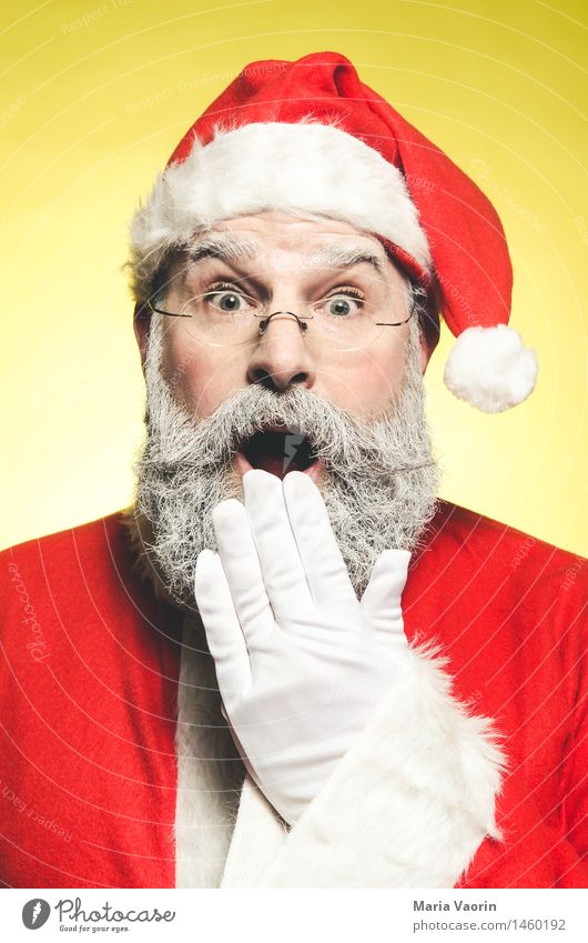 ho ho ho Feasts & Celebrations Christmas & Advent Human being Masculine Man Adults Male senior 1 45 - 60 years Coat Eyeglasses Gloves Cap White-haired