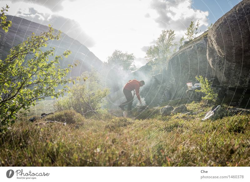 Nature Loneliness Mountain Eating Grass Wood Freedom Rock Hiking Trip Adventure Fire Smoking Smoke Fragrance Collection