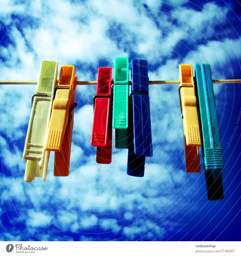 Summer Clouds Garden Warmth Together Network Multicoloured Physics Craft (trade) Backyard Dry Household 7 Neighbor Hang up Clothes peg