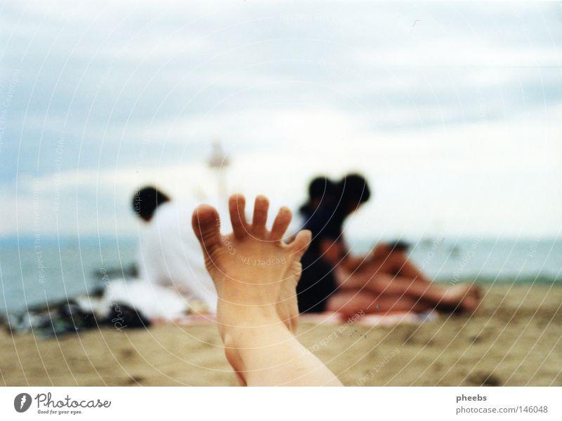Sun Ocean Summer Beach Vacation & Travel Feet Sand Romania Light blue Meschen