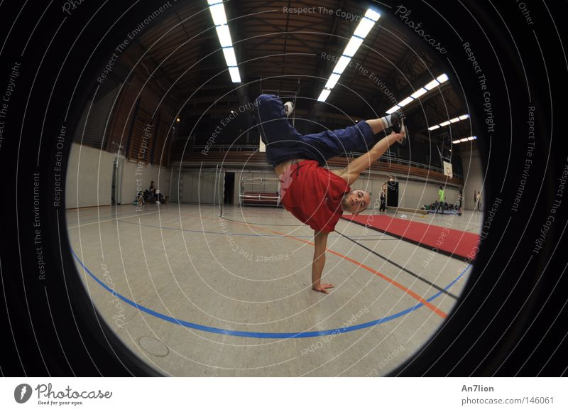 one second Handstand Gymnasium Fisheye Parkour Sports Sports Training martial arts freerunning