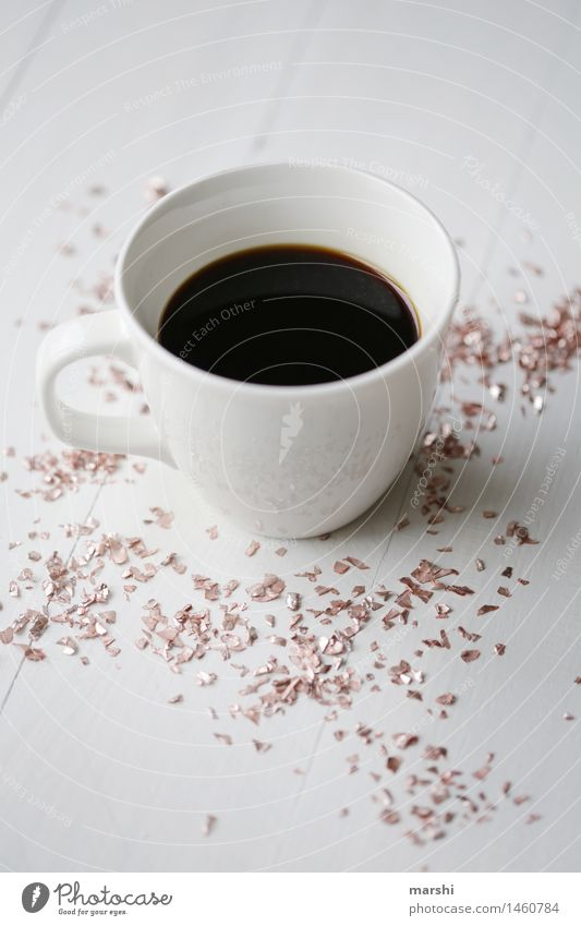 Glitter with coffee Food Beverage Drinking Hot drink Coffee Espresso Moody Glittering Coffee break Coffee cup To have a coffee Thirsty Data Alert Colour photo
