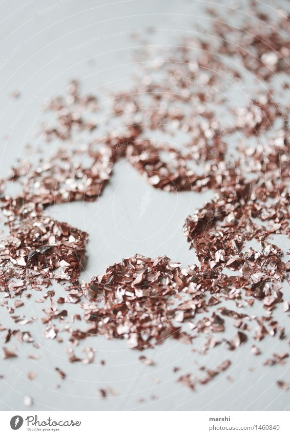 GlitterSternchen Sign Emotions Moody Stars Star (Symbol) Glittering Christmas & Advent Symbols and metaphors Decoration Copper Colour photo Interior shot Detail