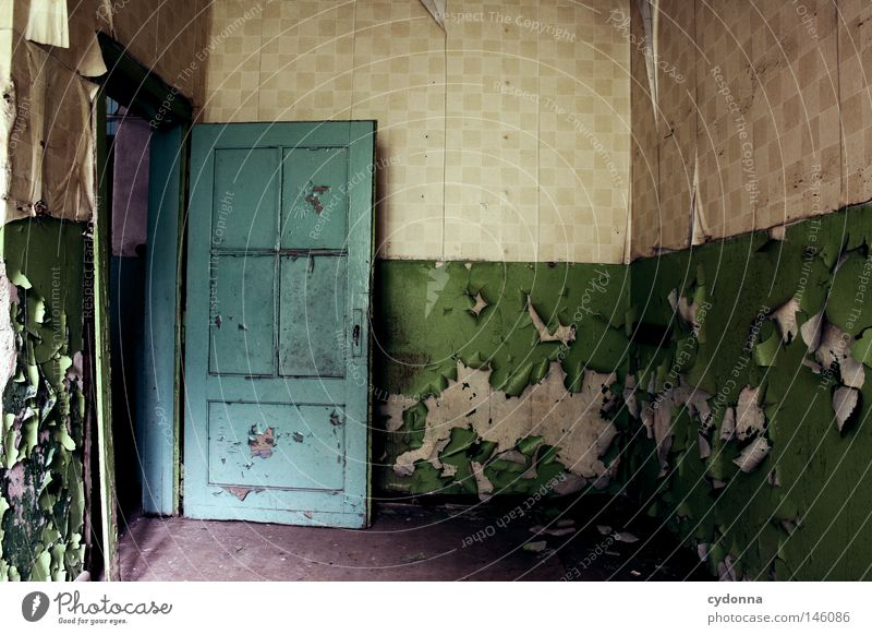 Old Loneliness House (Residential Structure) Colour Life Wall (building) Emotions Building Door Time Broken Living or residing Retro Painting (action, work)