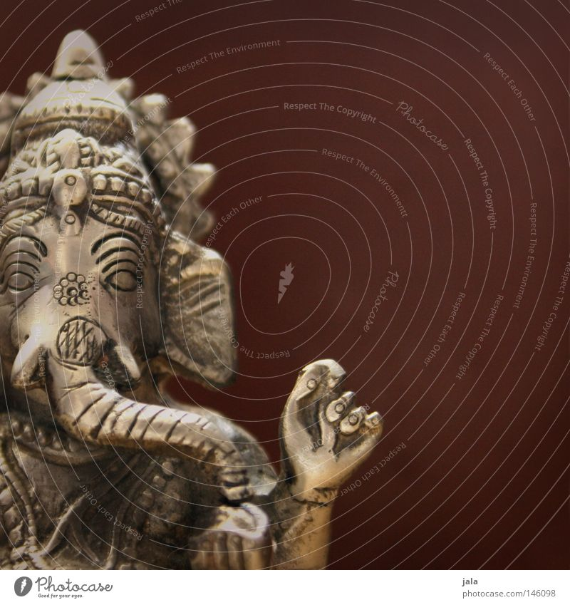 Religion and faith Power Art Glittering Hope Culture India Sculpture Figure Silver Belief God Elephant Wisdom Optimism Deities
