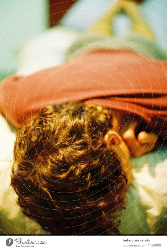 Back on Bed Back Hair Sleep Bed Hidden