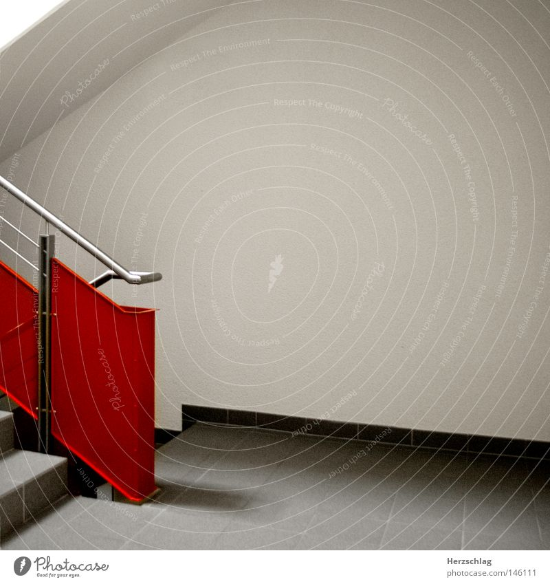 White Red Joy Gray Lanes & trails Stairs Perspective Target Row Doomed Staircase (Hallway)
