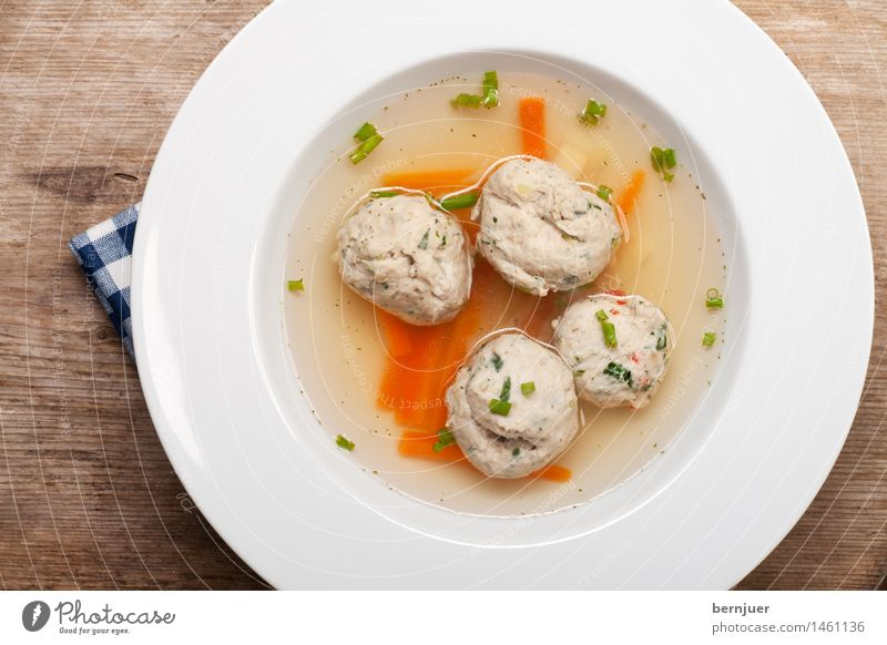 Blue White Warmth Food Fresh Delicious Hot Plate Bowl Fat Carrot Spicy Soup Parsley Stock Chives
