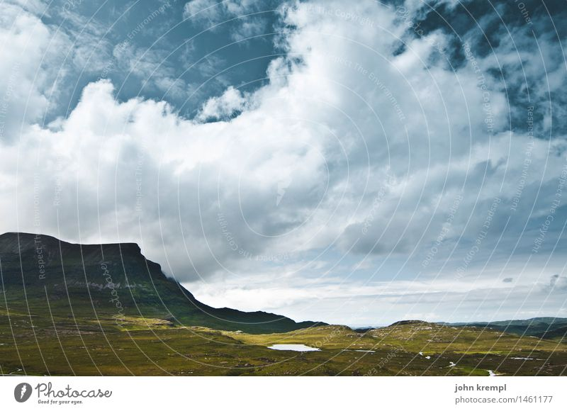 Calm before the storm Nature Landscape Sky Clouds Storm clouds Grass Hill Rock Mountain Highlands Scotland Threat Dark Infinity Bravery Self-confident