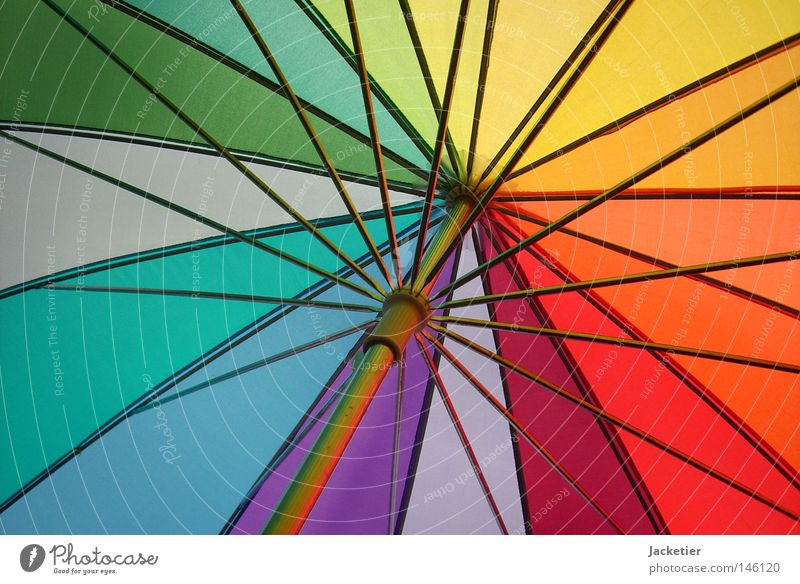 Green Blue Red Yellow Colour Autumn Rain Metal Weather Happiness Umbrella Sunshade Turquoise Weather protection Grass green