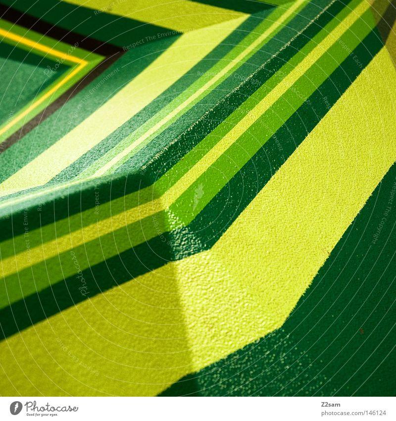 Green Yellow Colour Mountain Line Fresh Simple Things Peak Geometry Graphic Degrees Celsius Crocodile Dark green