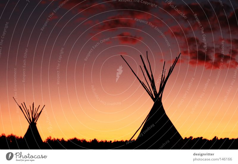 red cloud Evening Twilight Dark Sunset Romance Red Yellow Gold Clouds Forest Steppe Grassland Native Americans Tent Camping Tee Pee Americas North America