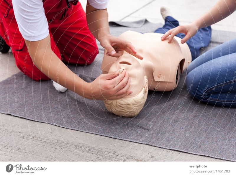 CPR training Illness Life School Doctor Human being Arm Hand Legs 2 30 - 45 years Adults Doll Work and employment Breathe Running Study Protection Hospitality