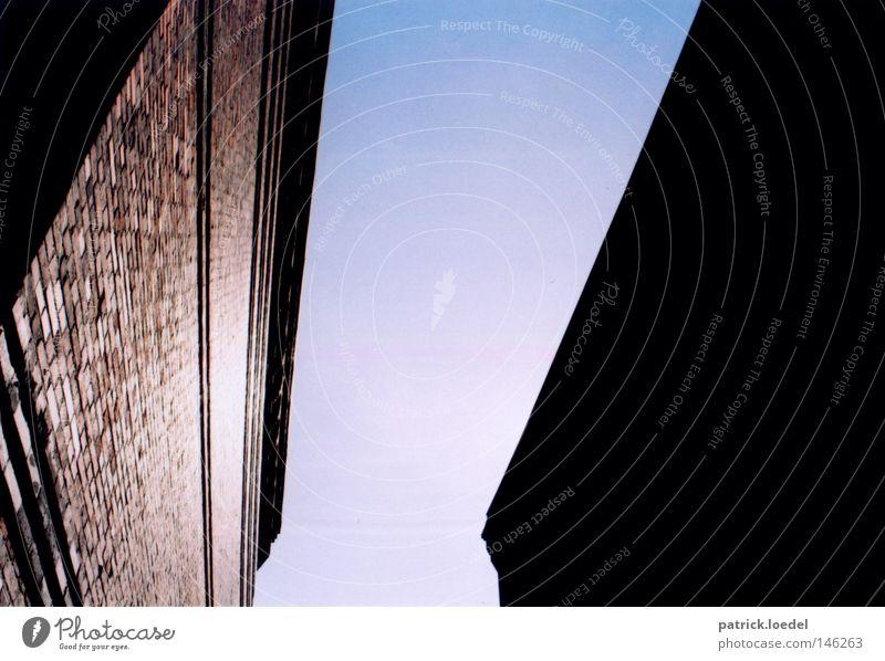 Sky Sun Blue Summer House (Residential Structure) Black Dark Wall (building) Bright Architecture Light Under Brick Upward Edge Dusk