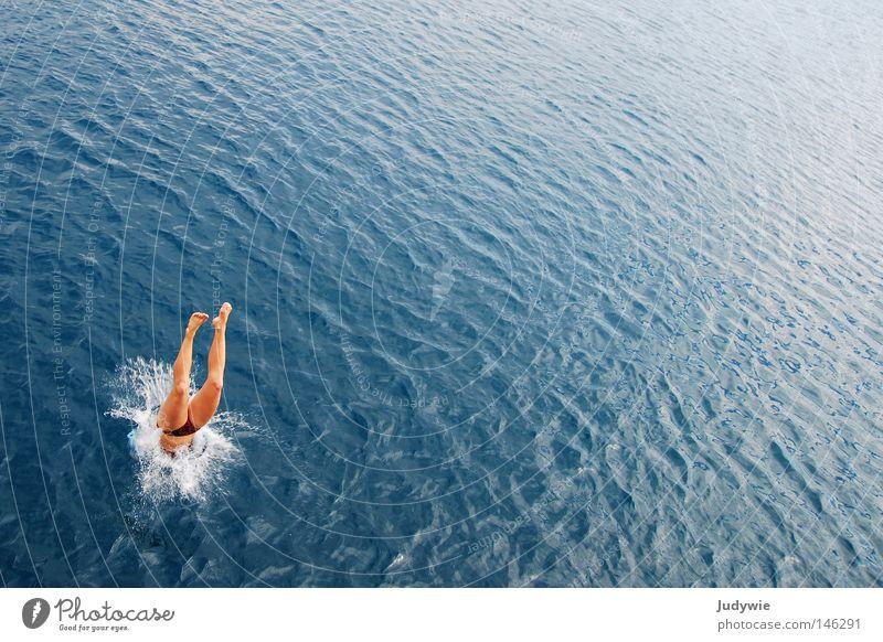Ocean Summer Vacation & Travel Sports Jump Playing Waves Wet Dive Swimming & Bathing Hot Bikini Water Inject Turkey Mediterranean sea