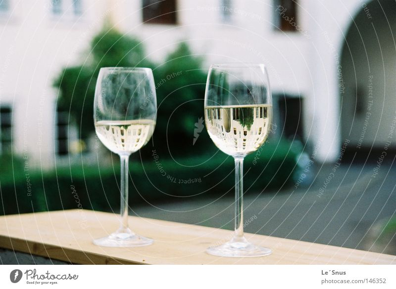 Twisted snoozeln Wine glass Balcony Interior courtyard Go crazy Glass Still Life Convex Alcoholic drinks Summer