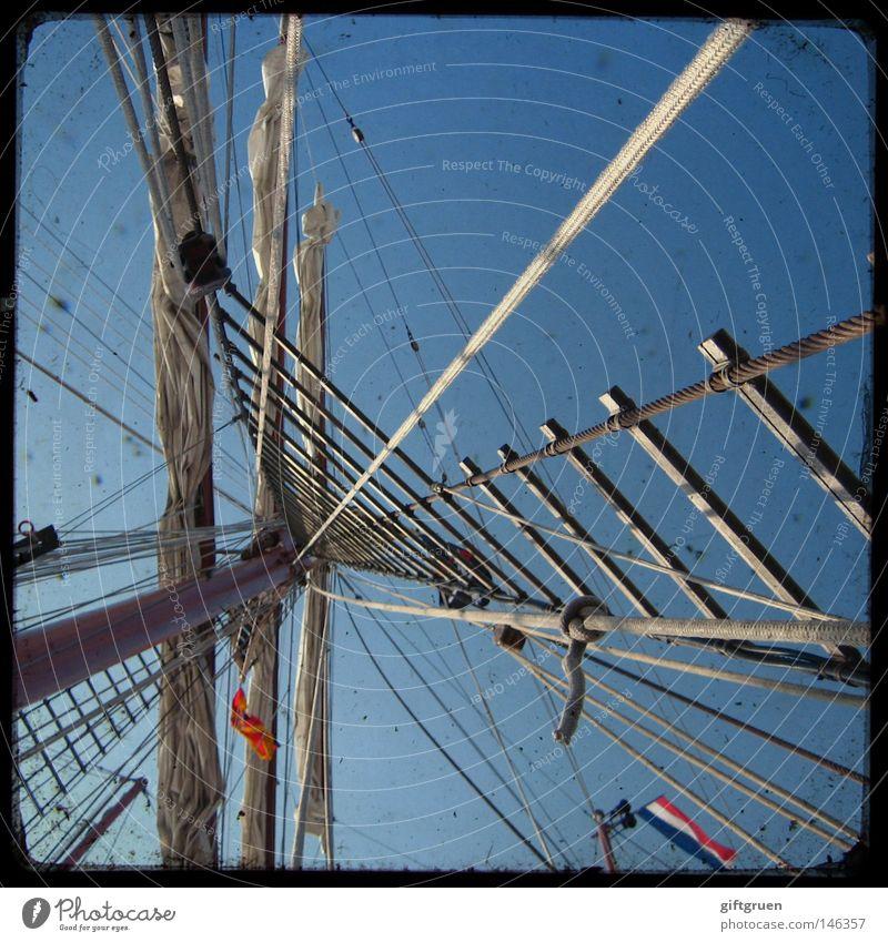 Vacation & Travel Ocean Playing Watercraft Rope Star (Symbol) Navigation Sailing Electricity pylon Sailboat Yacht Cruise Bow Seaman Sailing ship