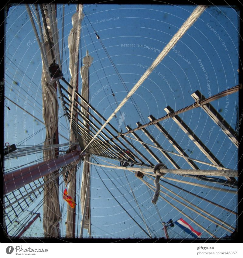 Vacation & Travel Ocean Playing Watercraft Rope Star (Symbol) Navigation Sailing Electricity pylon Sail Sailboat Yacht Cruise Bow Seaman Sailing ship