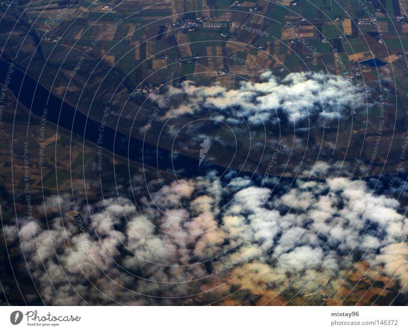 Sky Clouds Above Air Aviation River Americas Brook Austria Danube
