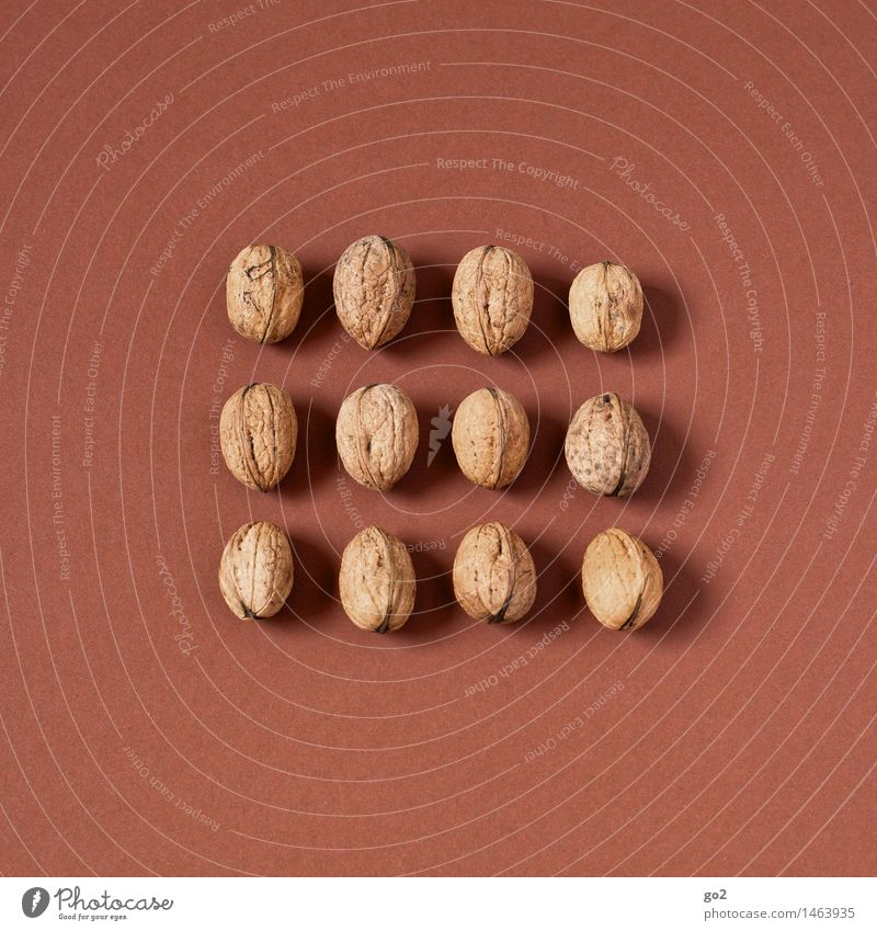 12 walnuts Food Fruit Walnut Nut Nutrition Eating Organic produce Vegetarian diet Diet Fasting Healthy Eating Christmas & Advent Esthetic Simple Delicious Brown