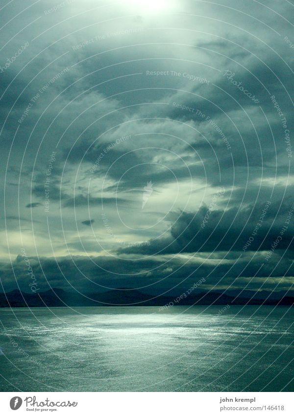 Water Sky Ocean Green Blue Beach Clouds Dark Coast Threat Bay Thunder and lightning New Zealand Apocalypse Sunset Royal