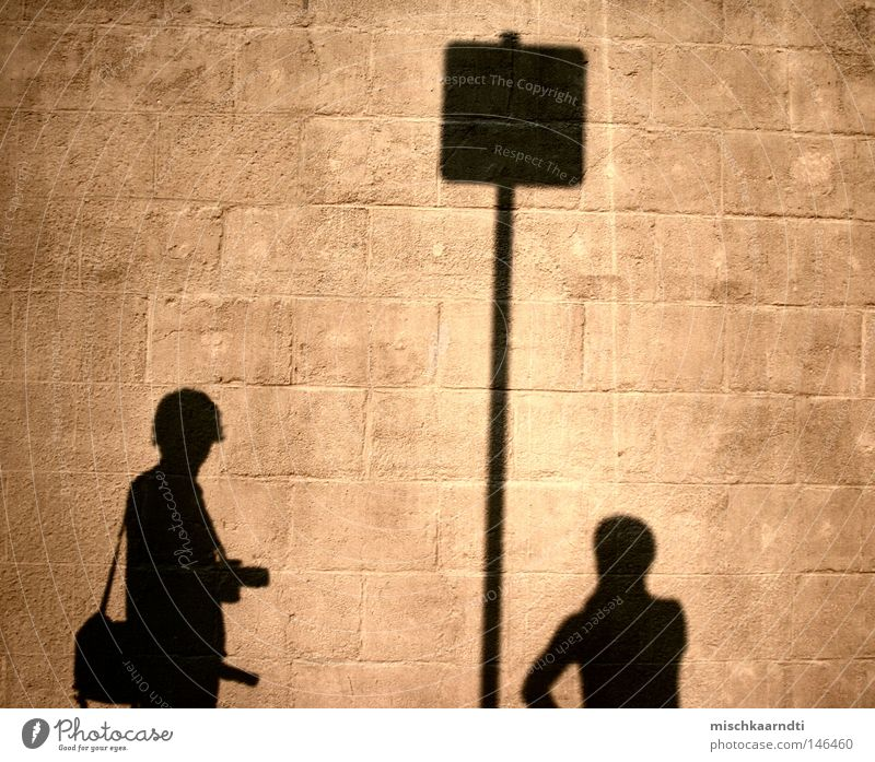 Up to here and no further Shadow Bright Dark Wall (building) Europe Germany Saxony-Anhalt Magdeburg Stone Self portrait Photographer Happiness