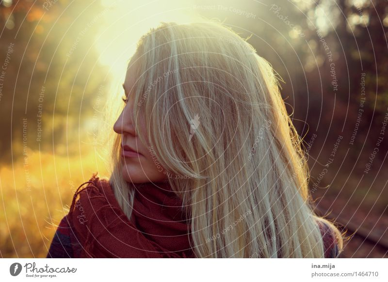 Human being Woman Youth (Young adults) Young woman Sun 18 - 30 years Adults Environment Life Autumn Emotions Feminine Hair and hairstyles Together Blonde Nose
