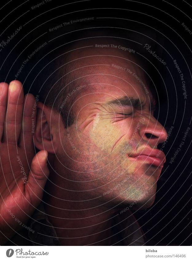 Face Calm Window Head Mouth Nose Fingers Communicate Ear Lips Listening Window pane Car Window Level Banal