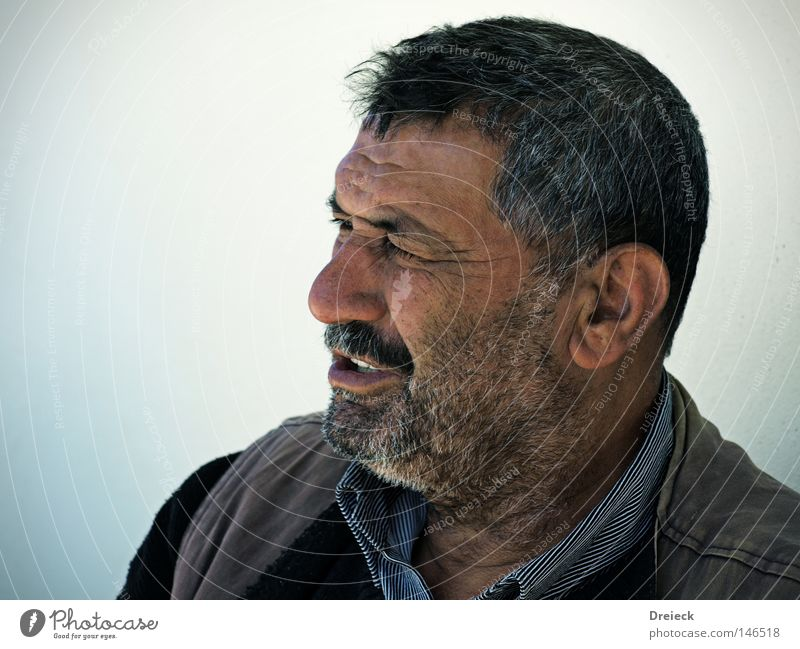 hard but hearty Man Old Facial hair Black Gray Grayed Wrinkles Sunbathing Beard Looking Portrait photograph Colour Senior citizen vignette 4:3