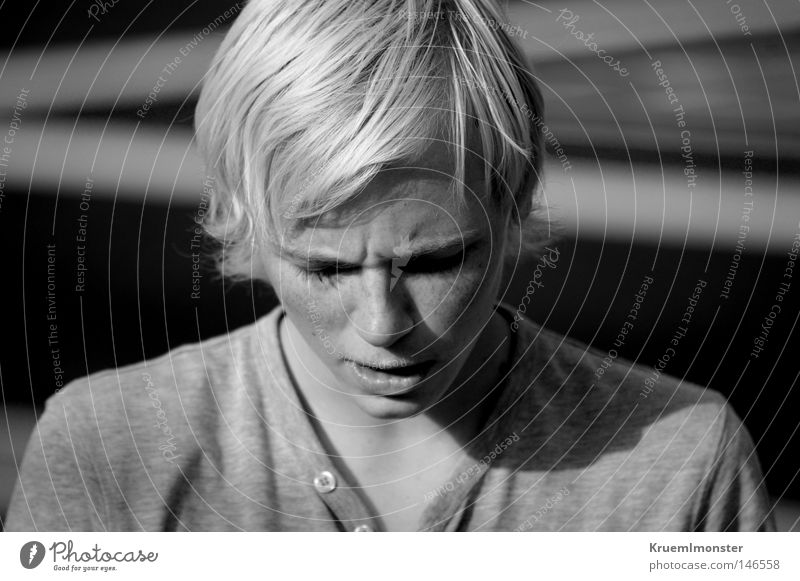 You Don't Deserve What You Mean To Me Man Young man Blonde Norway Freckles Indifferent Grief Misunderstanding Black & white photo Norwegian Passivity silohette