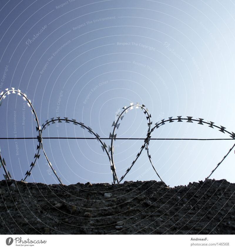 without parole Barbed wire Wire Fence Wall (barrier) Border Boundary post Border guard Border area The Wall Divide Division Safety Penitentiary Captured Sky