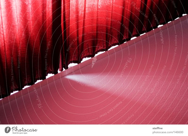 Red Room Flat (apartment) Mysterious Hotel Fatigue Theatre Cinema Drape Curtain Arise Offensive Envelop