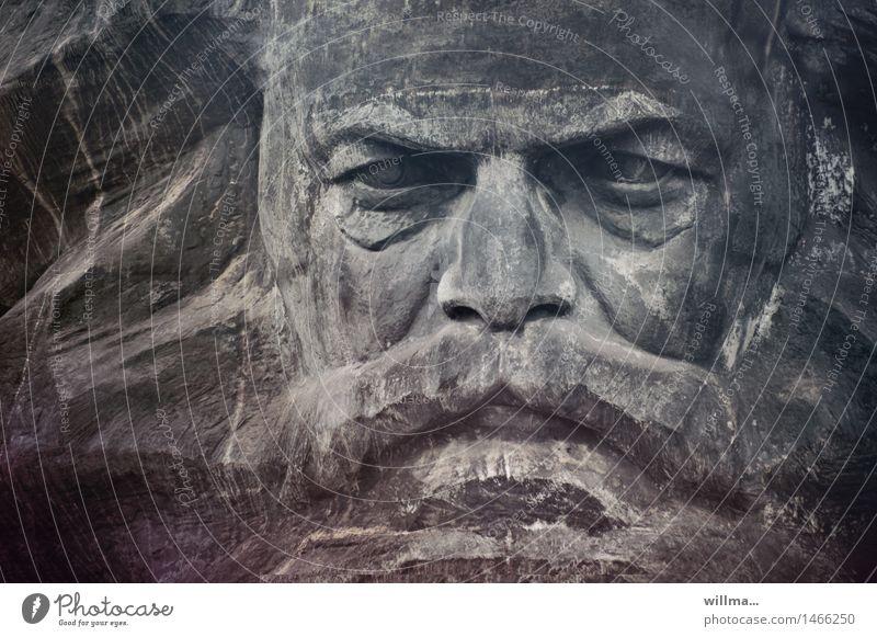 Face Gray Art Landmark Facial hair Monument Sculpture Politics and state Monumental Chemnitz Socialism Philosopher Communism Free enterprise Marxism-Leninism