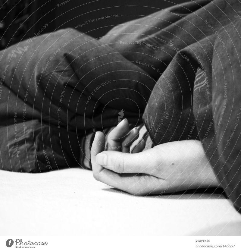 Hand Calm Death Sleep Grief Desire Fatigue Distress Duvet