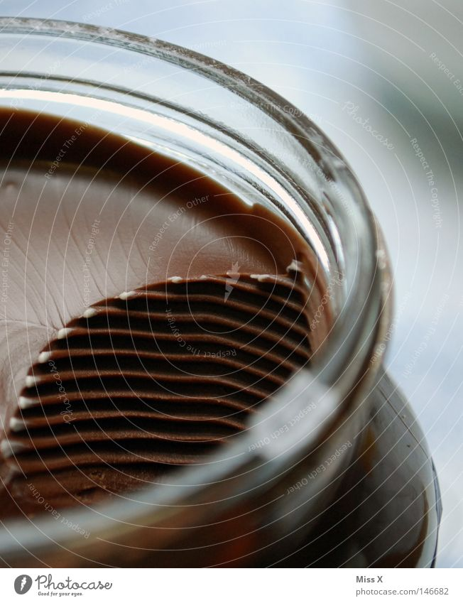 Brown Sweet Delicious Candy Chocolate Partially visible Section of image Food photograph Creamy Nut spread